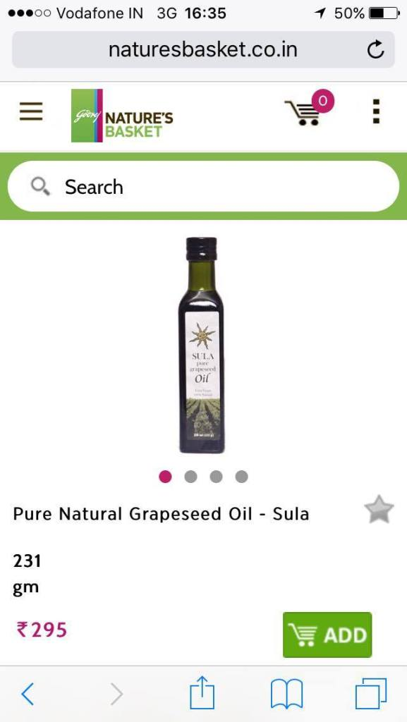 Grapeseed Oil Sula