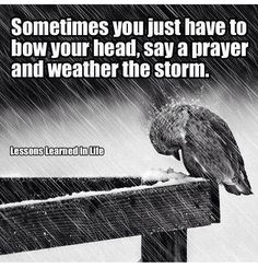 Bow your head and pray