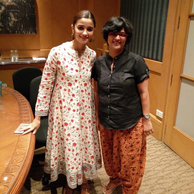 Alia Bhatt with Janhavi Samant