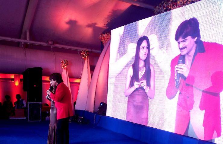 Anupma Singh with Ehsaan Quershi