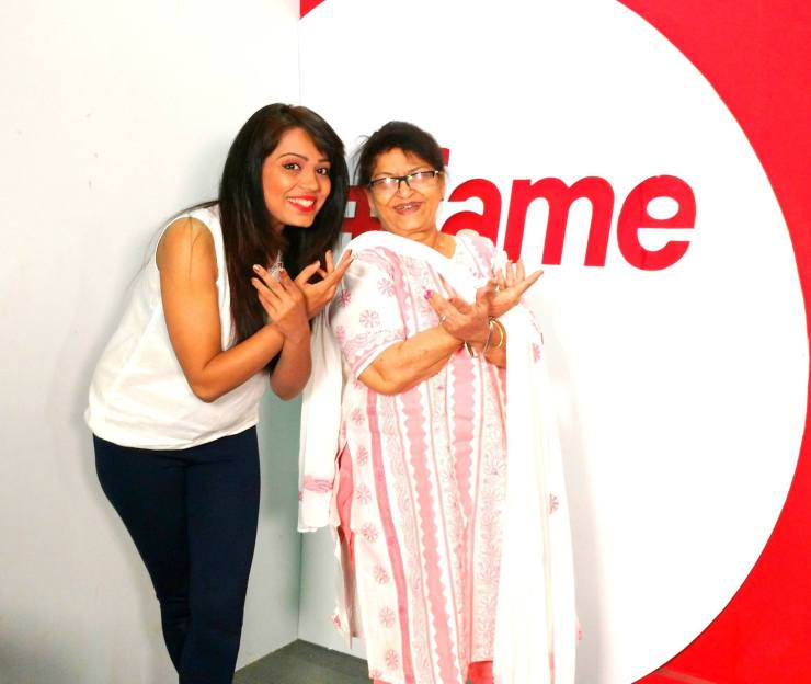 Anupma Singh and Saroj Khan