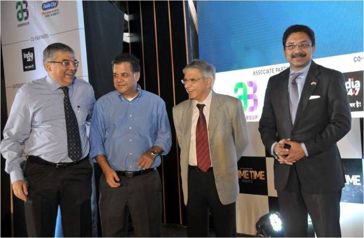 Paresh Chaudhry, seen here with Raj Nayak, CEO, Colors, Sam Balsara, Chairman & MD, Madison