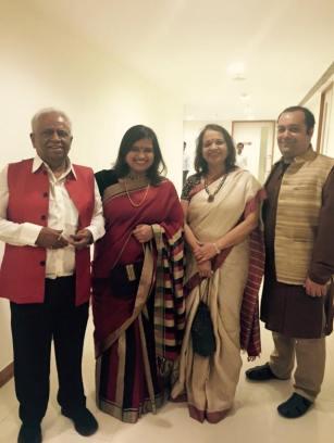 Shakti Salgaokar-Yezdani and family