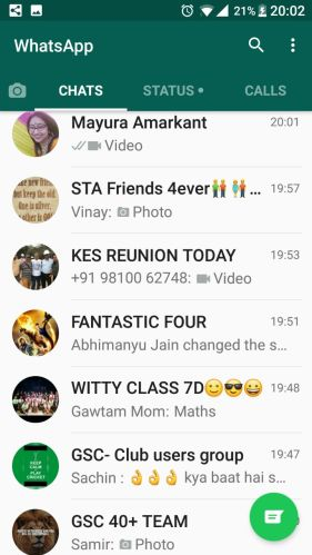 WhatsApp Group list