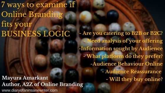 Online Branding and Business Logic - questions