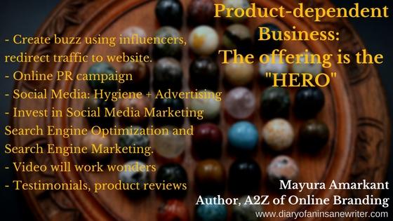 Product dependent Business Online Branding