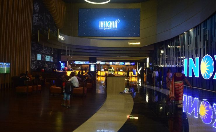 INOX coffee shop and LED Screen
