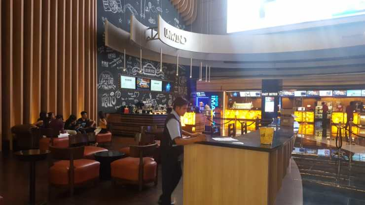 Coffee shop at movie theatre