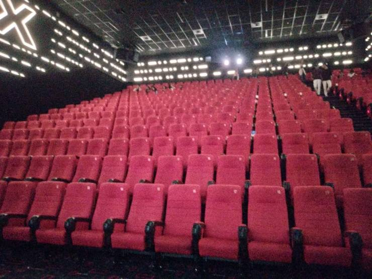 Inside view of INOX theatre R City Ghatkopar