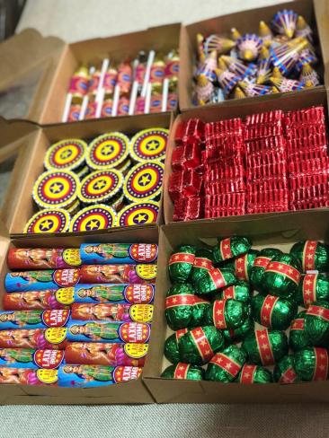 Firecracker chocolates for Diwali