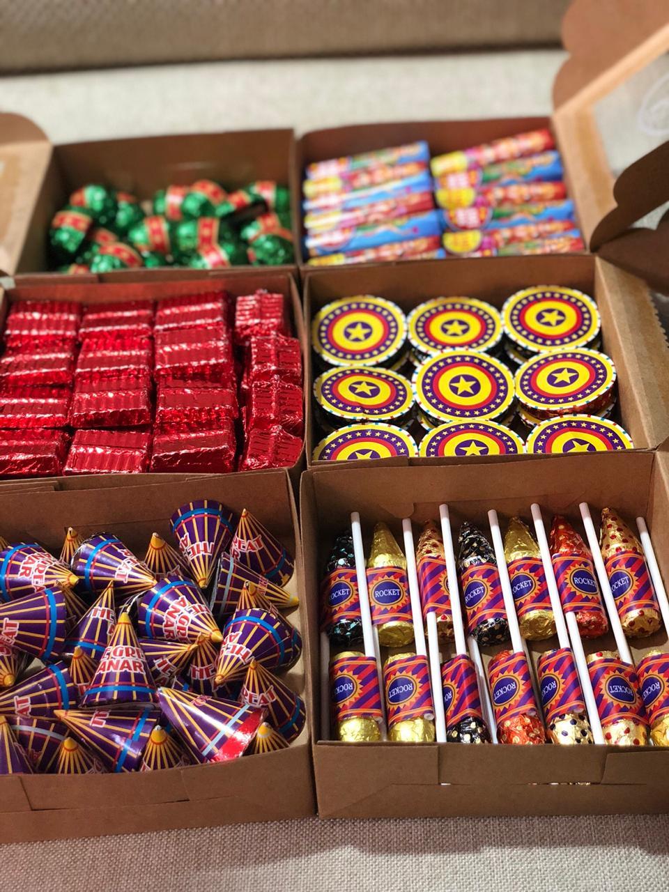 Fire cracker chocolates for Diwali
