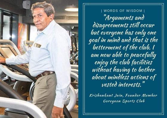 Krishankant Jain, Founder Member, Goregaon Sports Club