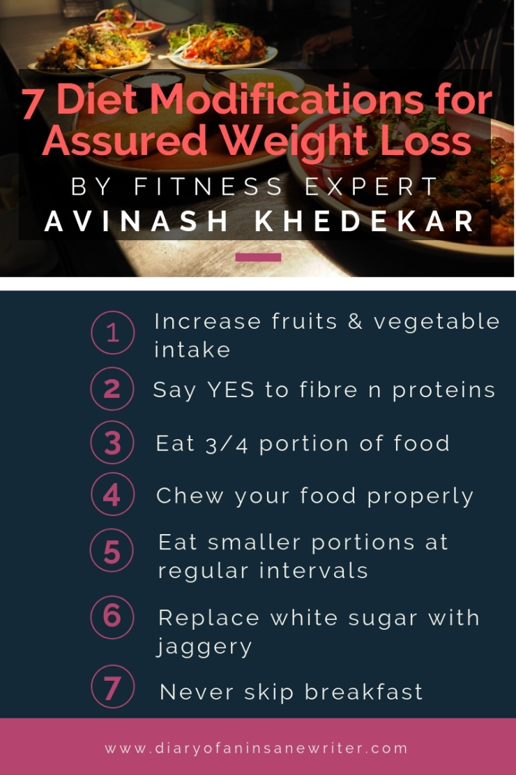 7 Diet Modifications for assured weight loss