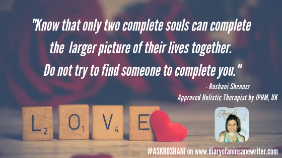 Two souls can complete each other