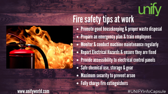fire safety tips at work