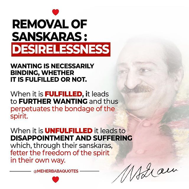 Meher Baba on desirelessness