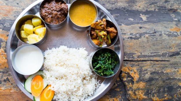 Balanced Indian meal