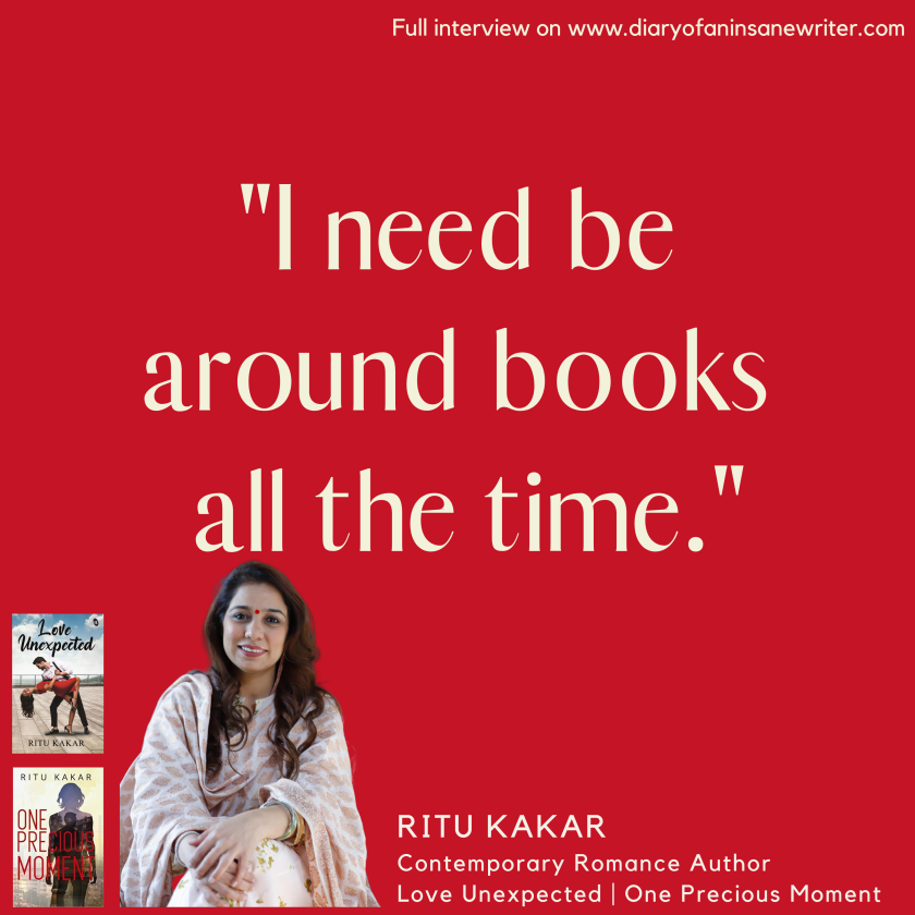 Ritu Kakar Love for Books