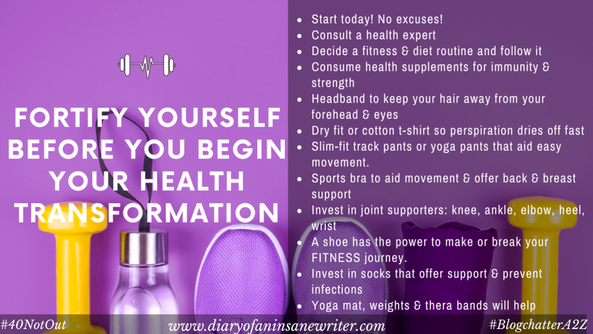 Fortify yourself before you begin your health transformation