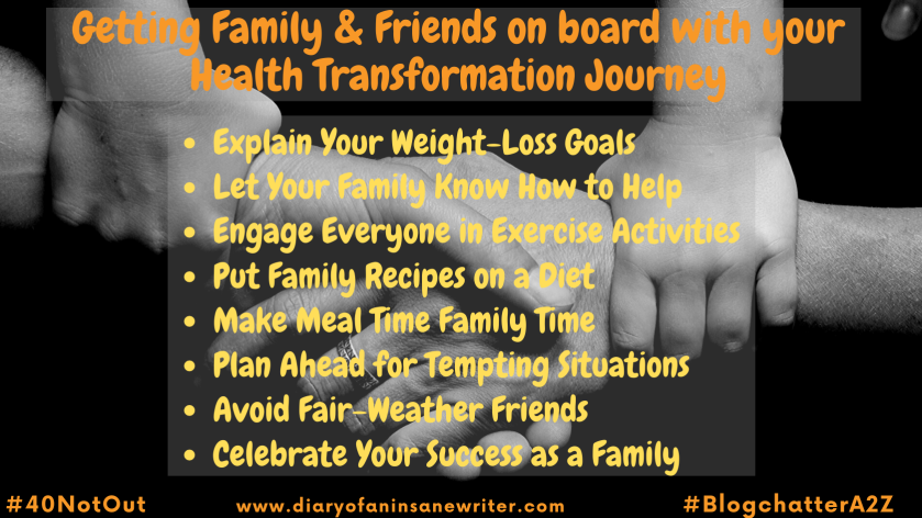 Getting Family & Friends on board with your Health Transformation Journey
