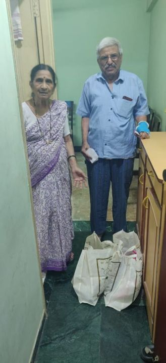 Distributing Food to the senior citizens during COVID19 lockdown