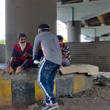 Feeding the homeless during COVID 19 Lockdown