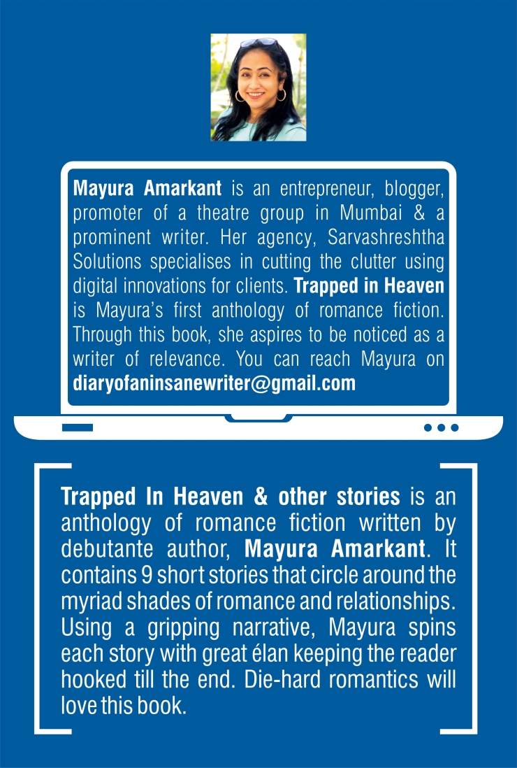 Trapped in Heaven book back cover Mayura Amarkant