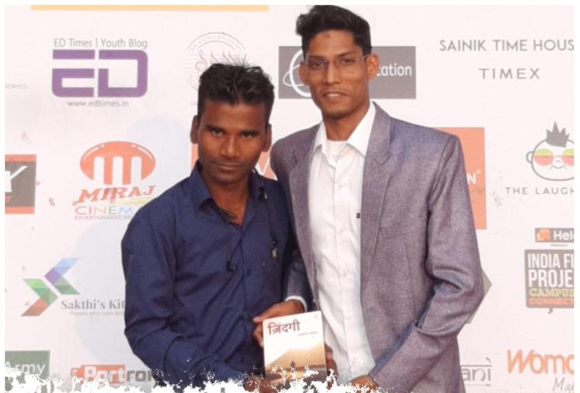 Vikash Saxena and Nitish Raj of Literary Mirror