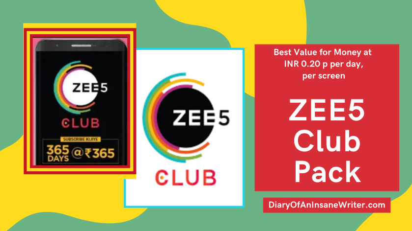 ZEE5 Club Pack – Best Value for Money at INR 0.20p per day, per screen