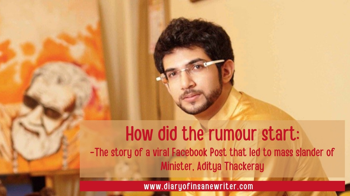 How Did The Rumour Start The Story Of A Viral Facebook Post That Led To Mass Slander Of Minister Aaditya Thackeray In The Mysterious Deaths Of Disha Salian And Sushant Singh Rajput
