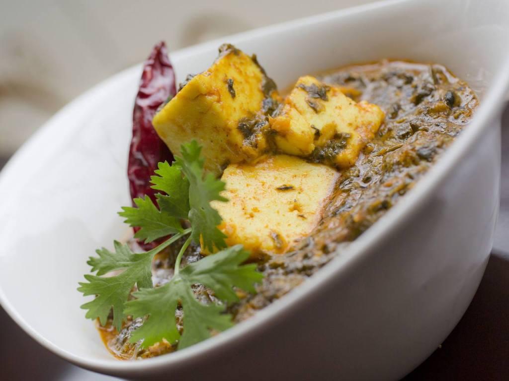 Palak Paneer menu at Ashas restaurant