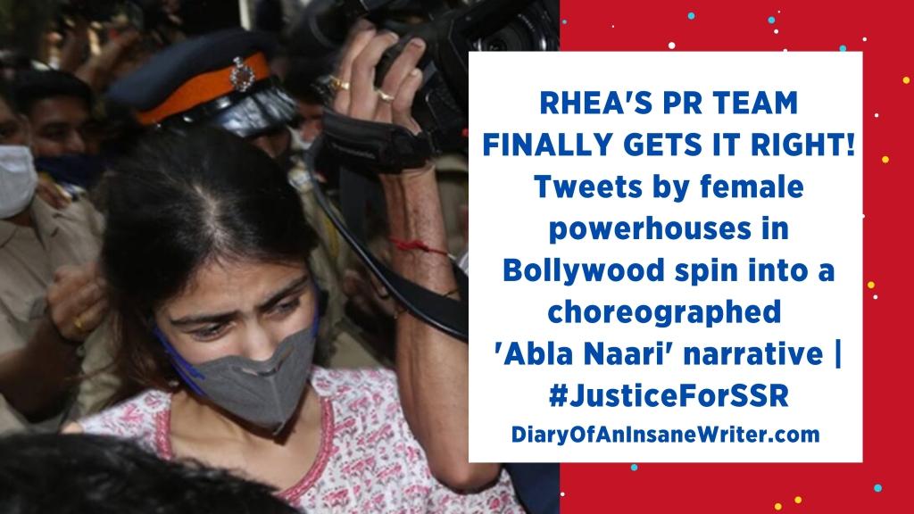 Rhea Chakraborty vilification