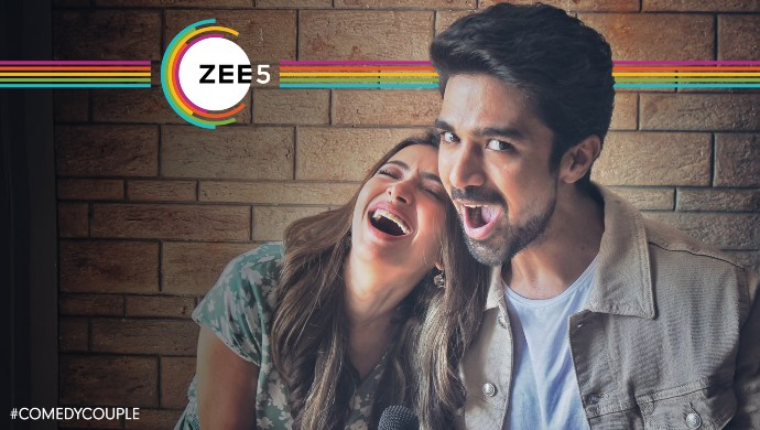 ZEE5 new movie Comedy Couple. Rangbaaz star Saqib Saleem and Shweta basu