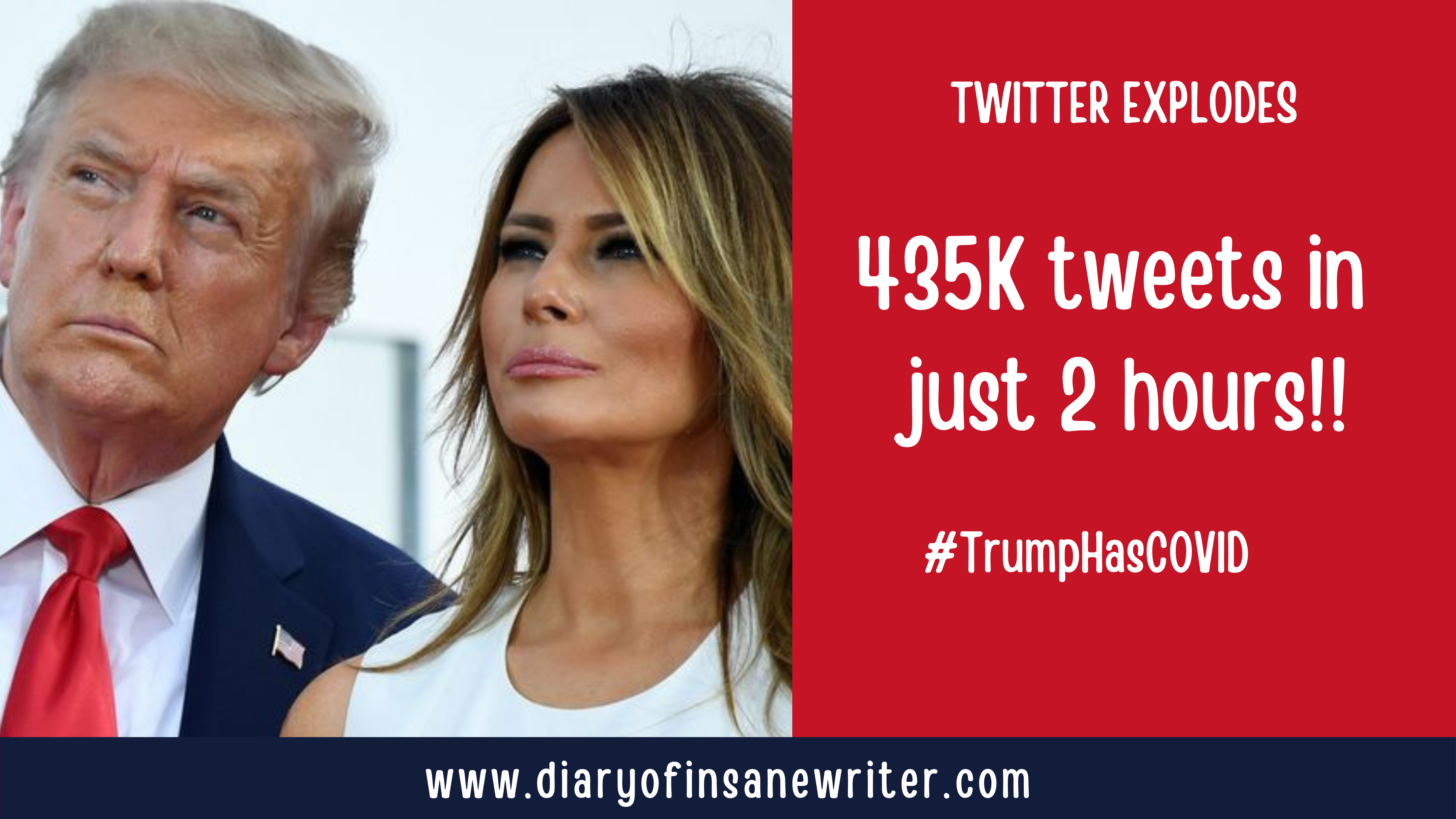 Twitter Explodes As President Trump Says He And First Lady Melania Trump Have Tested Positive For Covid 19 Trumphascovid Donaldtrump Diaryofaninsanewriter